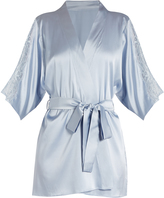 Fleur of England Delphine lace-insert silk-blend satin robe
