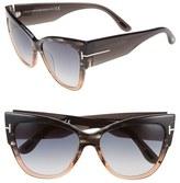 Tom Ford Women's Anoushka 57Mm Gradient Cat Eye Sunglasses - Dove Grey/ Grey Gradient