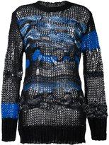 Diesel open knit jumper