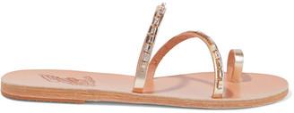 Ancient Greek Sandals Apli Katia Crystal-embellished Leather Sandals