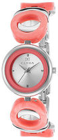 Clyda CLA0537SRIX Women's Salmon Acetate and SS Silver-Tone Dial SS
