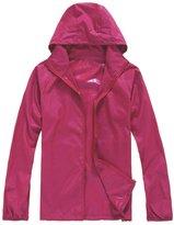 Alafen Unisex Lightweight Waterproof Sun Protection Jacket Skin Windbreaker Small