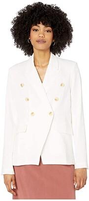 Bishop + Young Camille Blazer (White) Women's Jacket