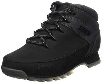 Timberland Men's Euro Sprint Hiker Chukka Boots, Black/Grey Nubuck, 42 EU