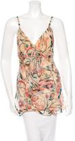 Diane von Furstenberg Silk Floral Top