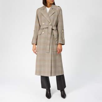 Whistles Women's Check Trench Coat - Multicolour - UK 6 - Multi
