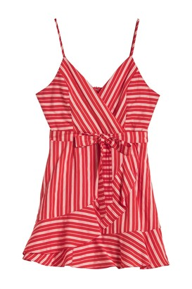 Hyfve Waist Tie Stripe Print Dress