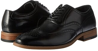 Stacy Adams Dunbar Wingtip Oxford (Black) Men's Shoes
