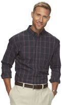 Haggar Men's Weekender Classic-Fit Crossdye Easy-Care Button-Down Shirt