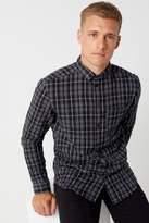 Mens Boohoo Man Long Sleeve Check Shirt
