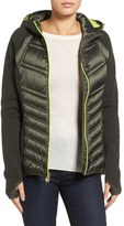 MICHAEL Michael Kors Women's Mixed Media Hooded Down Jacket