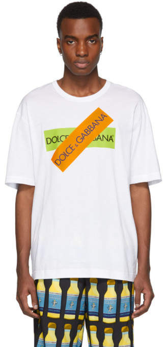 Dolce & Gabbana White Tape T-Shirt