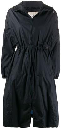 Herno hooded A-line rain coat