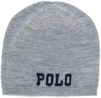 Ralph Lauren Kids knitted beanie hat