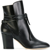 Sergio Rossi ankle boots with tie
