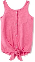 Old Navy Slub-Knit Button-Front Tank for Girls