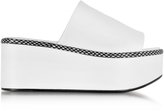 Robert Clergerie Flore White Leather Platform Sandal