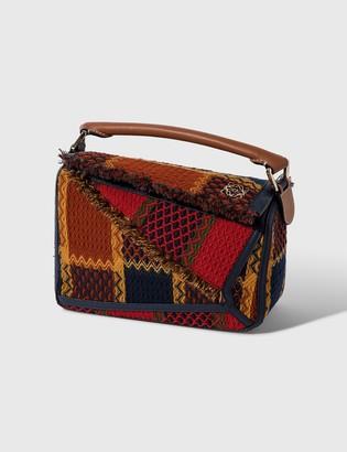 Loewe Small Puzzle Bag In Tartan