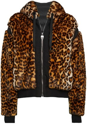 Giambattista Valli Reversible Leopard-Print Faux Fur Down Jacket