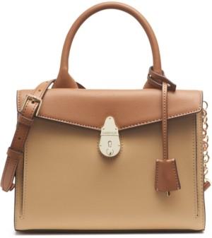 Calvin Klein Lock Leather Satchel