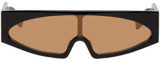 Rick Owens Black and Orange Kiss Sunglasses