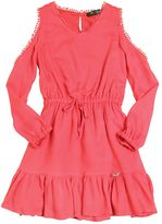 Miss Blumarine Crepe Dress With Open Shoulders