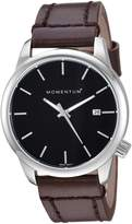 Momentum Women's Quartz Watch | Logic 36 by | Polished Stainless Steel Watches for Women | Sports Watch with Japanese Movement & Analog Display | Water Resistant ladies watch with Date - Black / Brown Leather