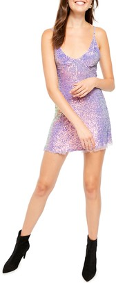 Free People Gold Rush Sequin Mini Dress