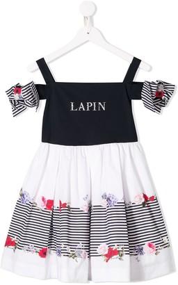 Lapin House Cold Shoulder Floral Dress