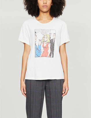 RE/DONE Graphic-print cotton T-shirt