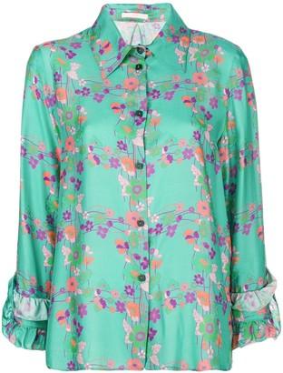 Kristina Ti floral print shirt