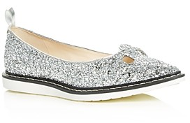 Marc Jacobs Women's The Mouse Shoe Glitter Pointed-Toe Flats