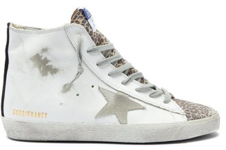 Golden Goose Francy High-top Leather Trainers - White Multi
