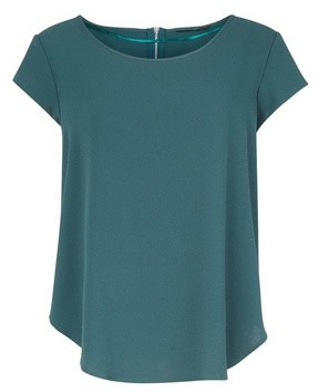 Dorothy Perkins Womens Only Dark Green Woven T