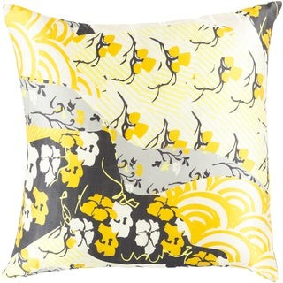 Overstock Decorative Lee 18-inch Poly or Feather Down Filled Throw Pillow