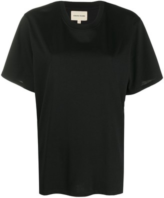 LOULOU STUDIO Round Neck Cotton T-Shirt