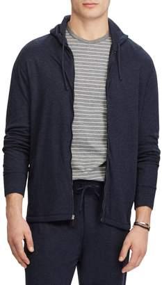 Ralph Lauren Duofold Jacquard Knit-Front Zip Hoodie