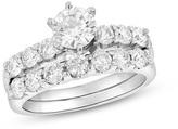 Zales 2 CT. T.W. Diamond Bridal Set in 14K White Gold (I/I1)