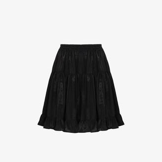 Batsheva Amy high waist tiered skirt