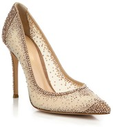 Gianvito Rossi Rania Crystal-Embellished Mesh Pumps