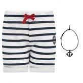 Junior Gaultier Junior GaultierBaby Boys Navy Striped Shorts