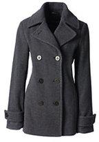 Classic Women's Petite Luxe Wool Peacoat-Medium Gray Heather