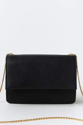 francesca's Jillian Structured Crossbody - Black
