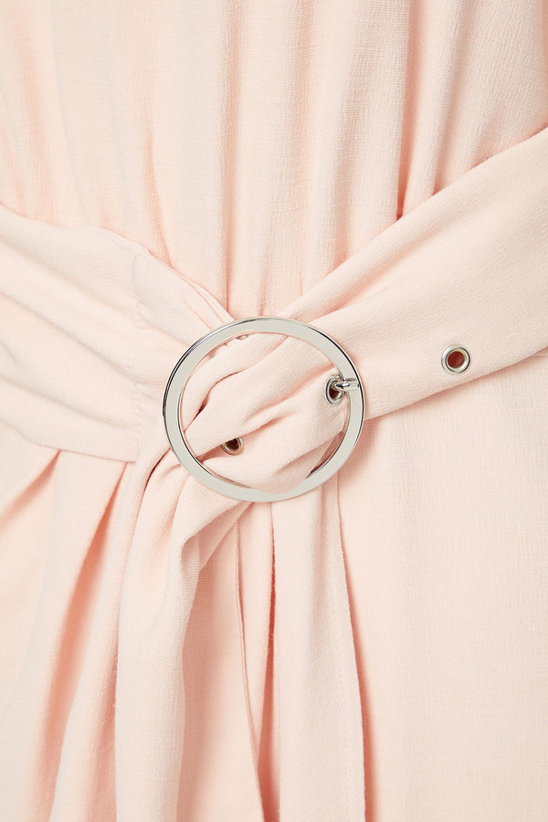 Thumbnail for your product : BA&SH Belted Gathered Cady Mini Dress