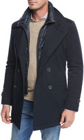 Herno Storm System Double-Breasted Peacoat