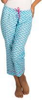 Malabar Bay Blue Molly Organic Cotton Capri Lounge Pants