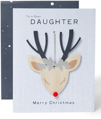 Marks and Spencer 3D Christmas Charity Card For Daughter with Keepsake Decoration