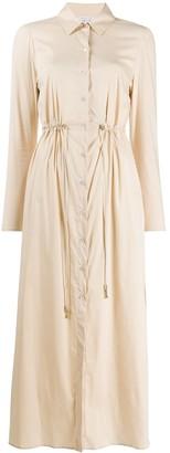 Patrizia Pepe Drawstring-Waist Shirt Dress