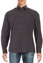 Strellson Jayden Mixro-Dot Cotton Button-Front Shirt