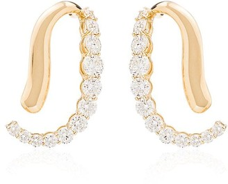 Melissa Kaye Aria Skye 18kt yellow gold diamond earrings